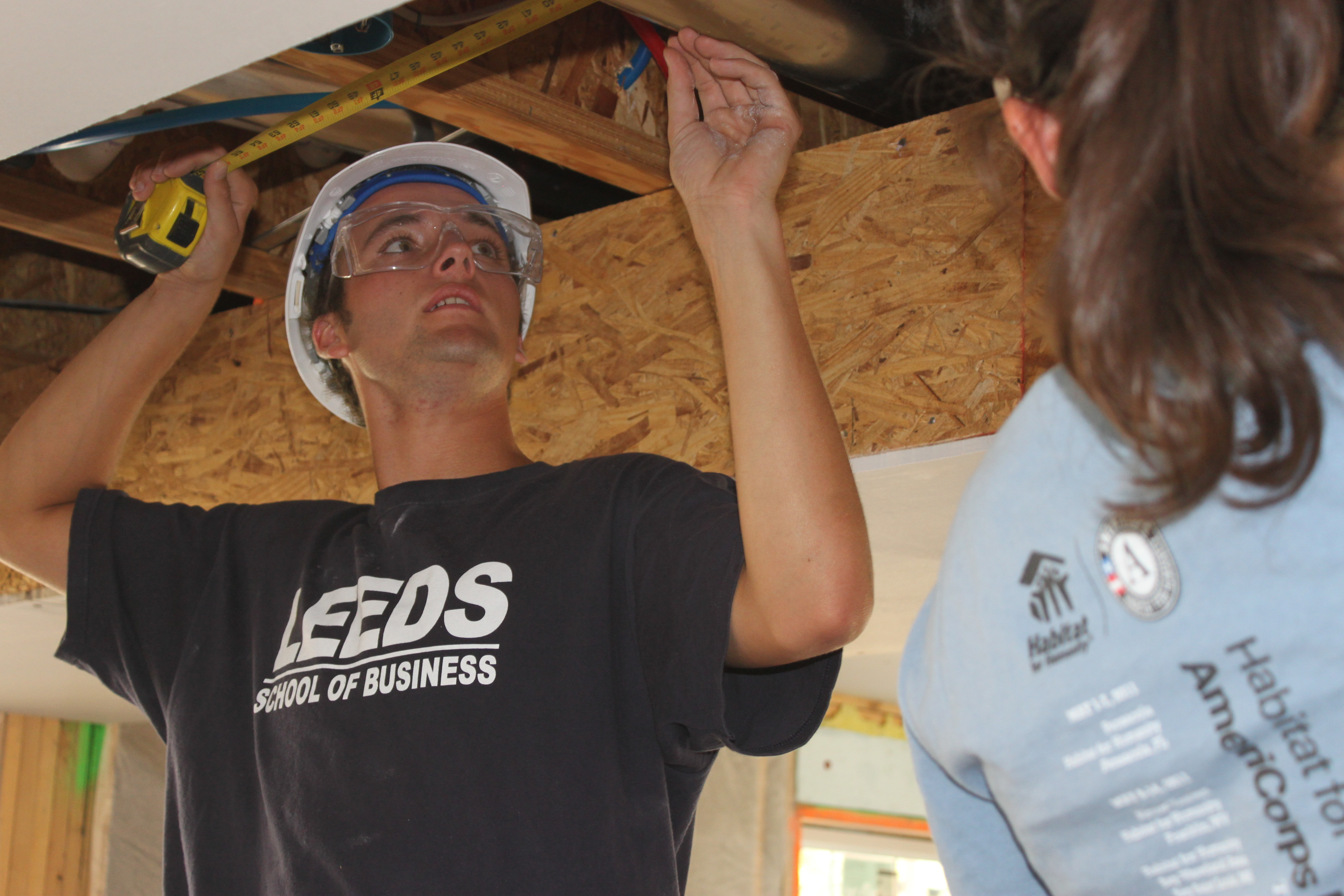 BOULD staff, Brian Brunsing in action at a LEED Platinum seeking Habitat for Hum
