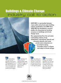 UNEP-SBCI's Building Industry Call to Action
