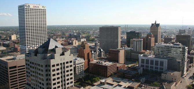 Downtown Milwaukee. Credit: compujeramey via Flickr