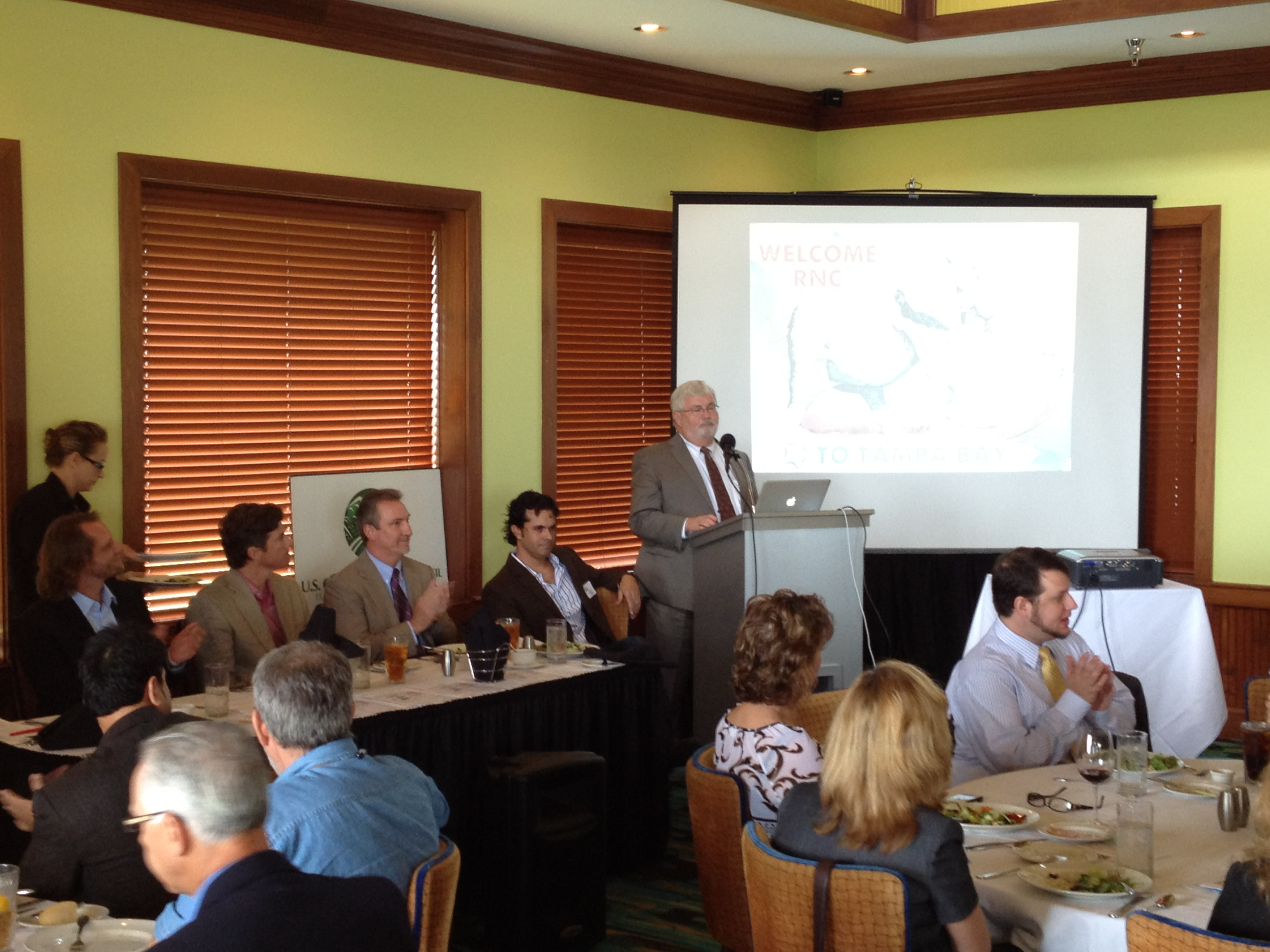 USGBC's Florida Gulf Coast chapter at Tampa's events, with Senator Latvala