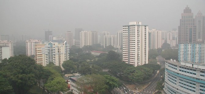 Smog in Singapore, via Flickr