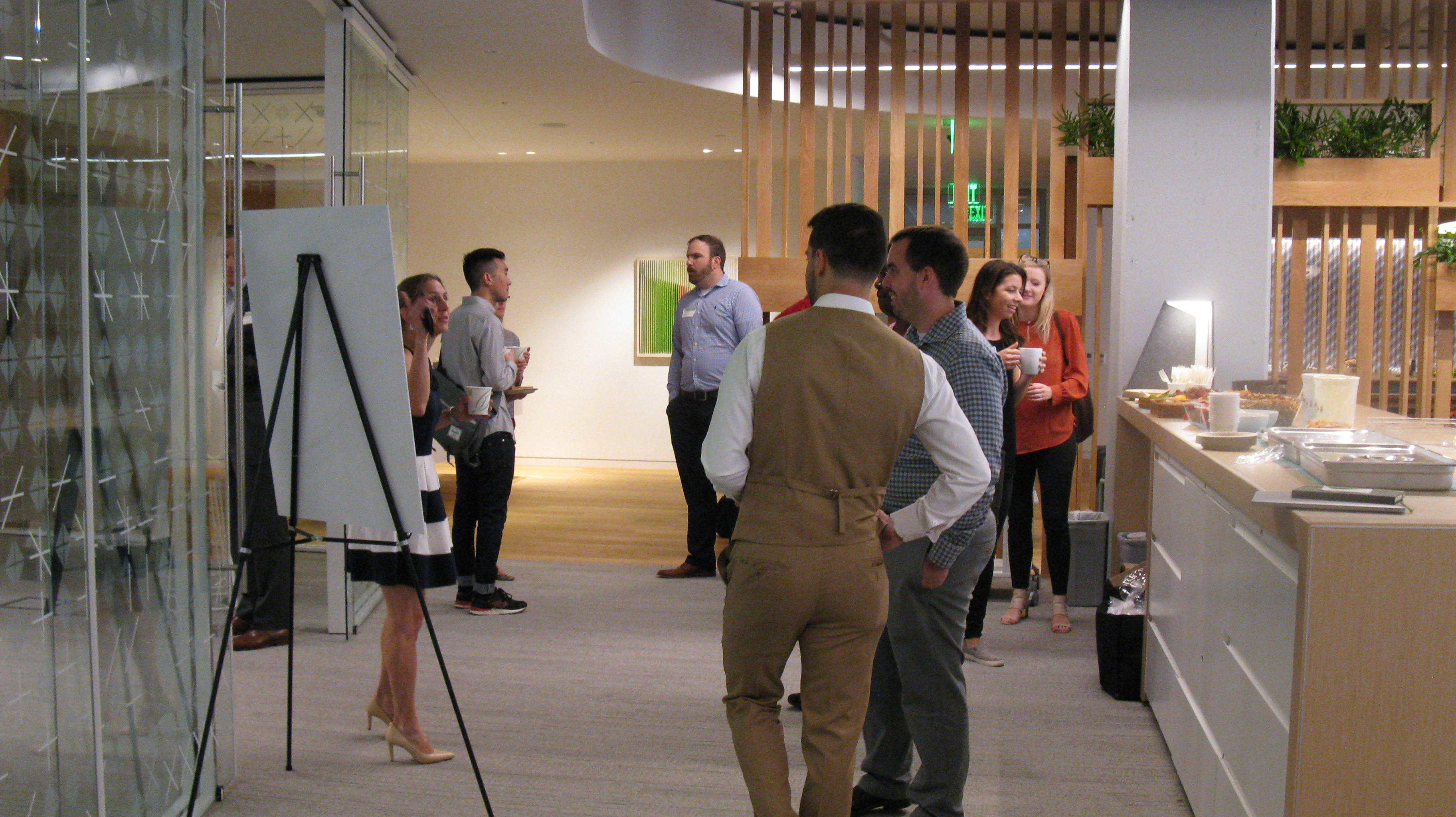 Attendees at the Haworth Showroom in D.C.