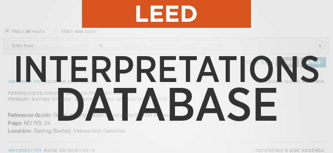 LEED Interpretations Database