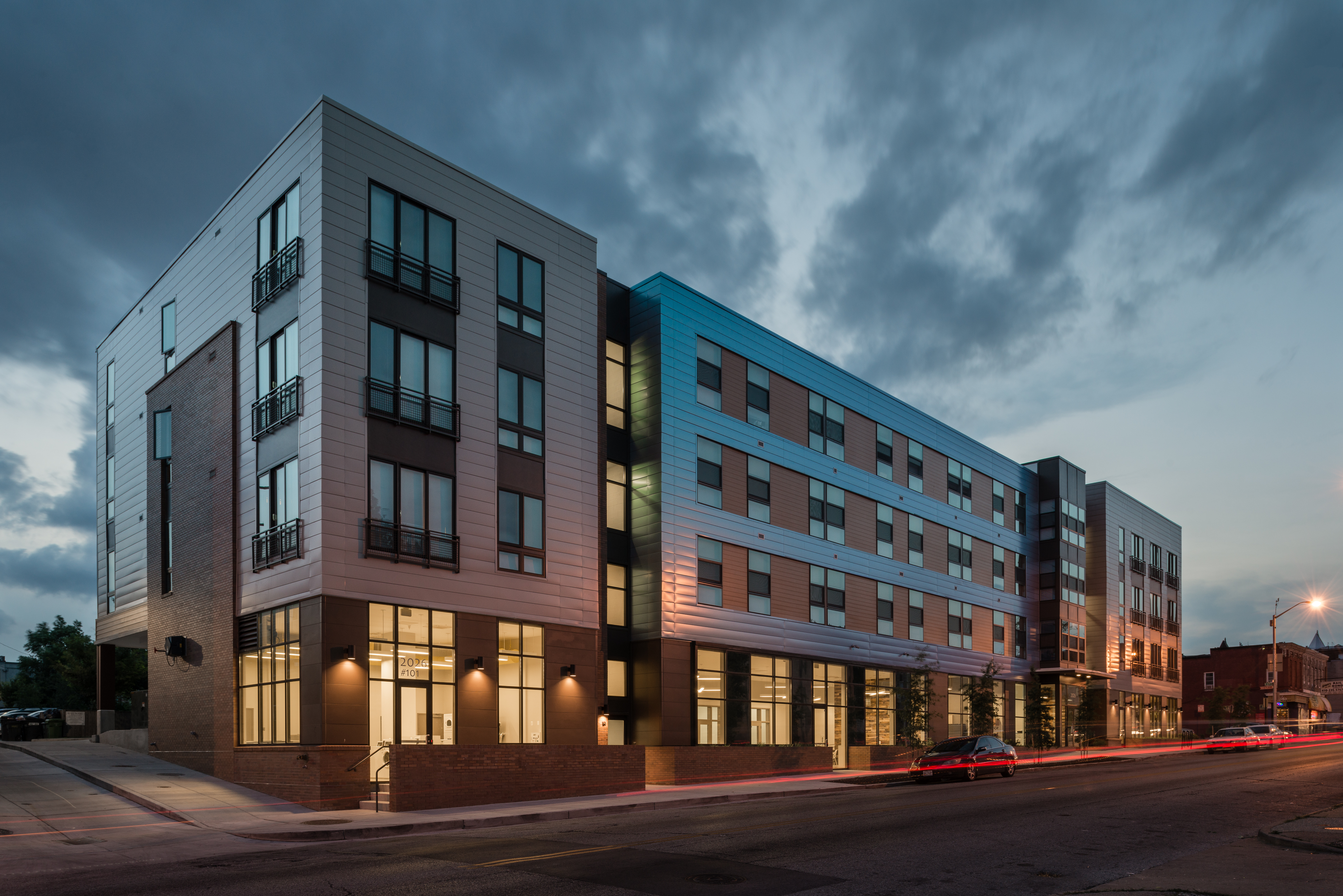 North Barclay Green Apartment complex is LEED Gold