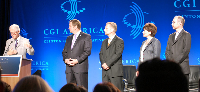 President Clinton announced the Challenge at yesterday's CGI America conference