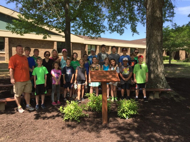 Clover Hill Green Apple Day of Service project