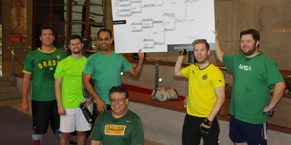 USGBC Arizona team members human foosball tournament
