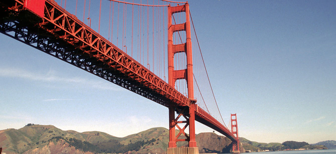 Follow the Golden Gate Bridge. (Credit: Rodefield)