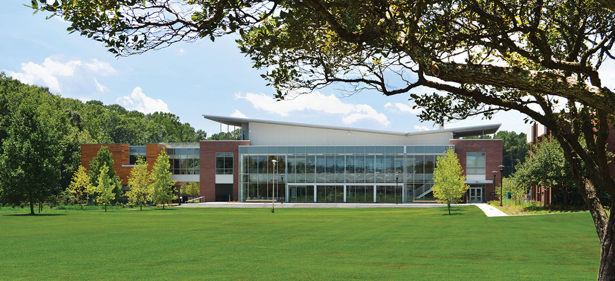 The Greer Environmental Sciences Center is LEED Gold
