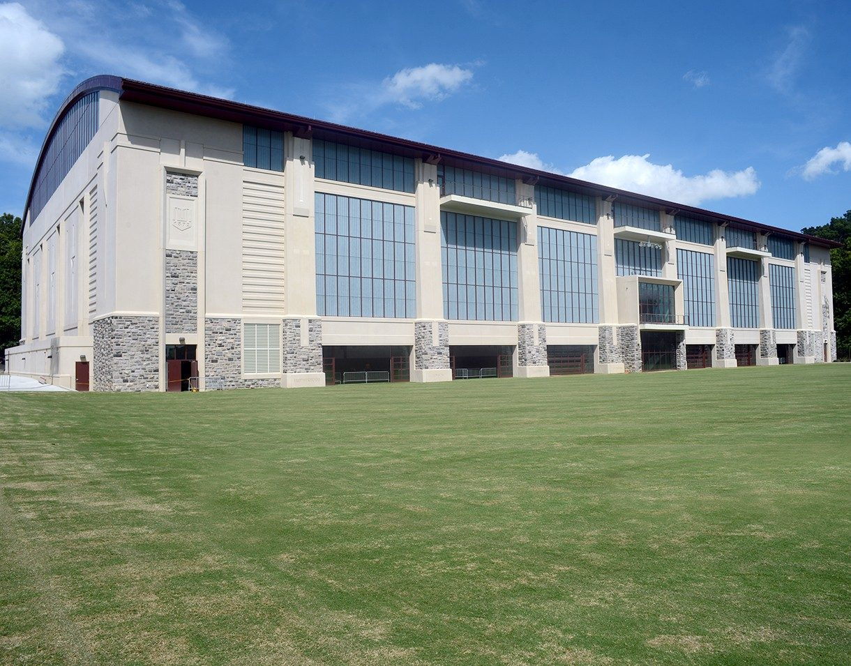 LEED Silver indoor athletic training facility at Virginia Tech