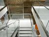USGBC water wall in connecting stairwell
