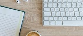 Computer Keyboard and Notepad