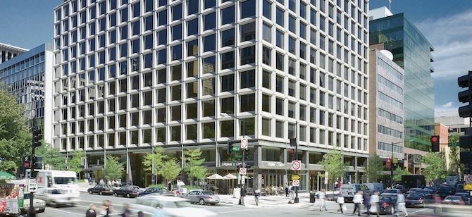 1101 17th St. NW, part of Vornado Realty Trust's Washington, D.C., portfolio.