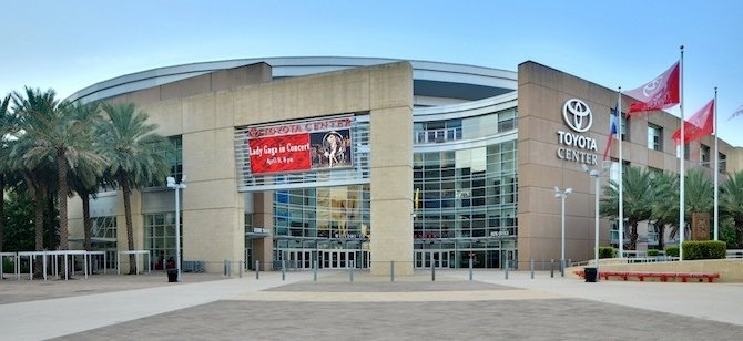 The LEED Silver Toyota Center in Houston, home of the Rockets. Credit: euthman v