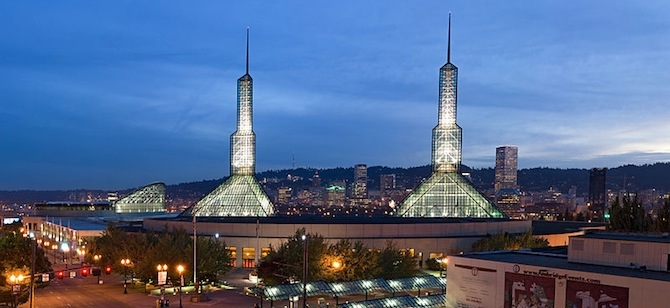 The LEED Platinum Oregon Convention Center in Portland. Credit: Wikimedia Common