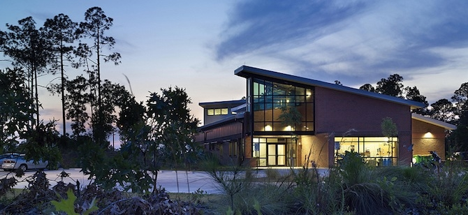 LEED Platinum Community Emergency Services Station. Photo credit: U.S. Army Corps of Engineers Savannah District