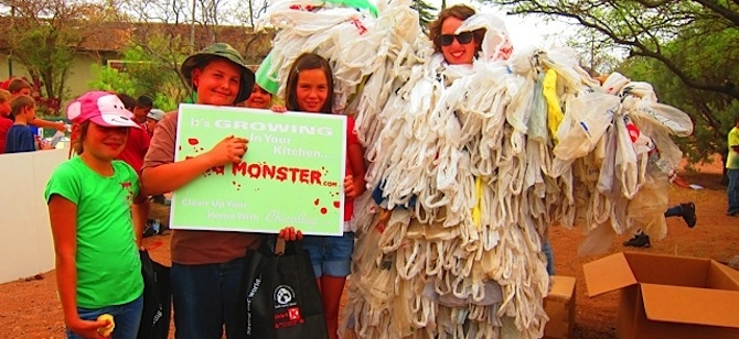The Trash Monster at Greenway