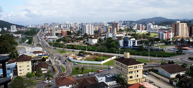 Joinville, Brazil, home to GM's new LEED Gold plant. Credit: Wikimedia Commons