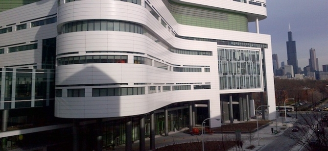 The LEED Gold Rush University Medical Center in Chicago.