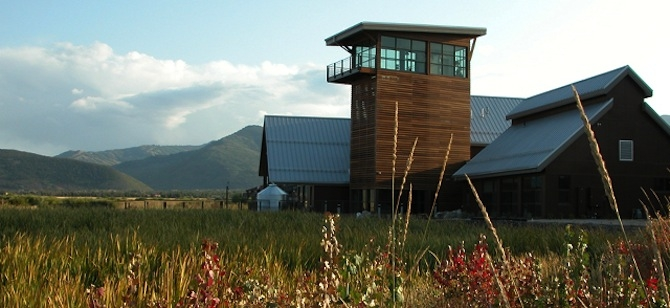 The LEED Platinum Swaner EcoCenter in Park City, Utah.