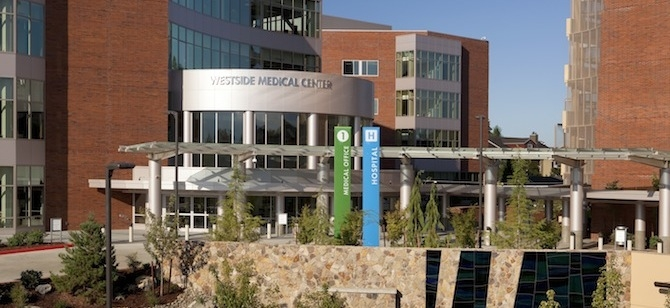 The LEED Gold-certified Kaiser Westside Medical Center in Hillsboro, Ore. Credit