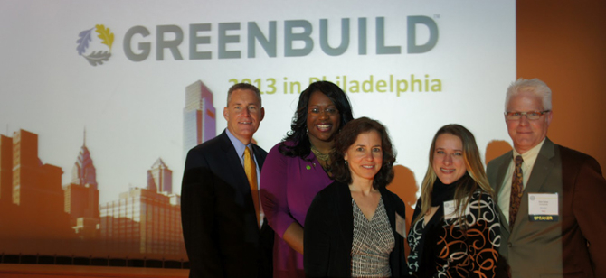 USGBC's Senior Vice President of Conferences and Events, Kimberly Lewis, alongsi