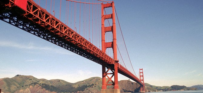 Follow the Golden Gate Bridge. (Credit: Rodefield)