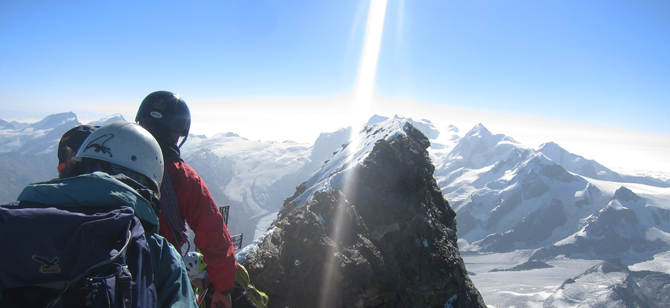 A snapshot of Mark's Matterhorn expedition