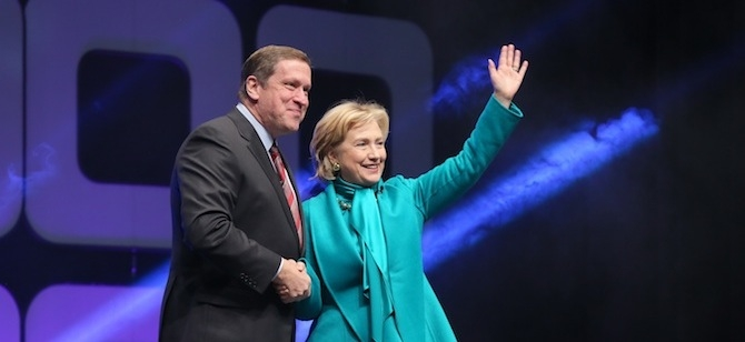 Hillary Clinton and Rick Fedrizzi