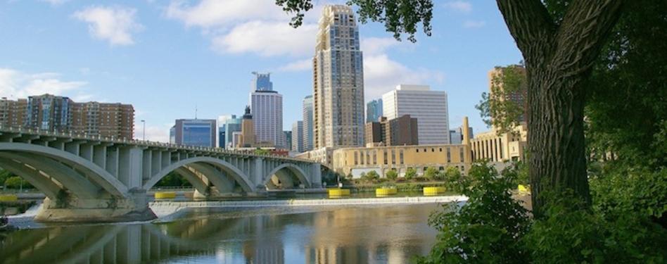 Central Minneapolis across the Mississippi River. Photo credit: kla4067 via flik