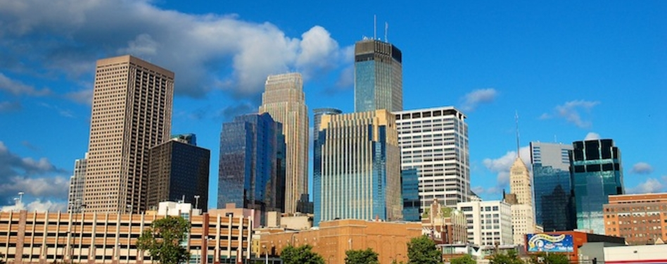 The Minneapolis skyline. Photo credit: bradleypjohnson via Flickr