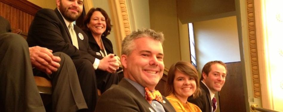 Top (from left): Bryan Howard, Allison Anderson. Bottom (from left): Jeff Seabol