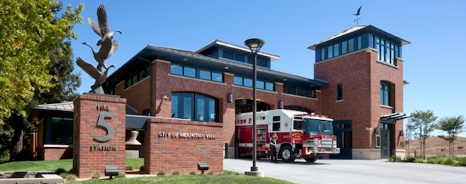 Mountain View Fire Station No. 5 in Mountain View, Calif., LEED Gold. Credit: Da