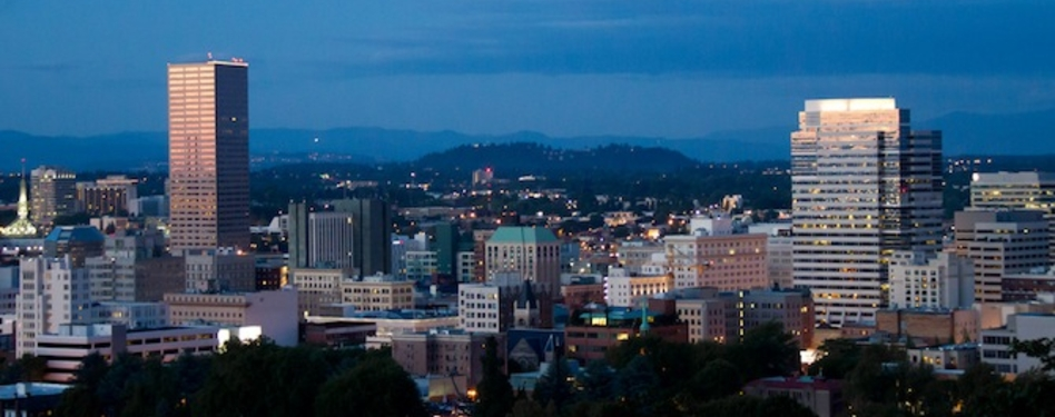 The skyline of Portland, Ore., home to 202 LEED-certified projects.