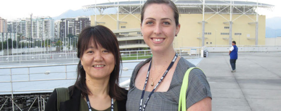 Me with Yuko Nishida, planner, Bureau of Environment Metropolitan Government of