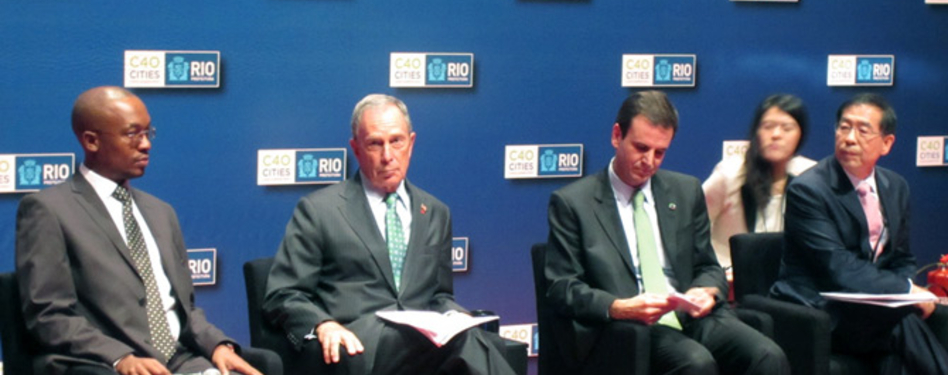 Mayor of Johannesburg, Mayor Bloomberg, Mayor Paes of Rio and the Mayor of Seoul