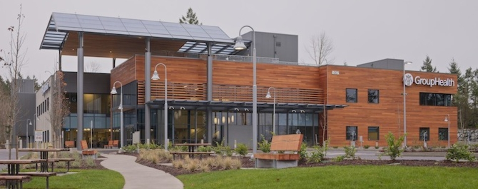 The Group Health Puyallup Medical Center in Puyallup, Wash., LEED Gold. Credit: