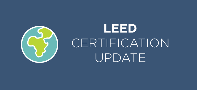 LEED Certification Update: New in 2016 | U.S. Green Building Council