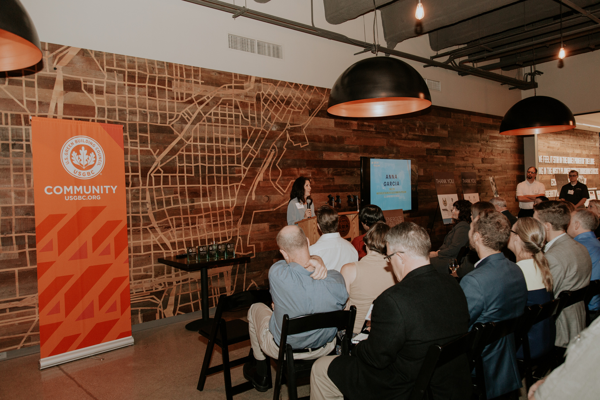 Anna Garcia speaks at the ReEnergize Milwaukee event