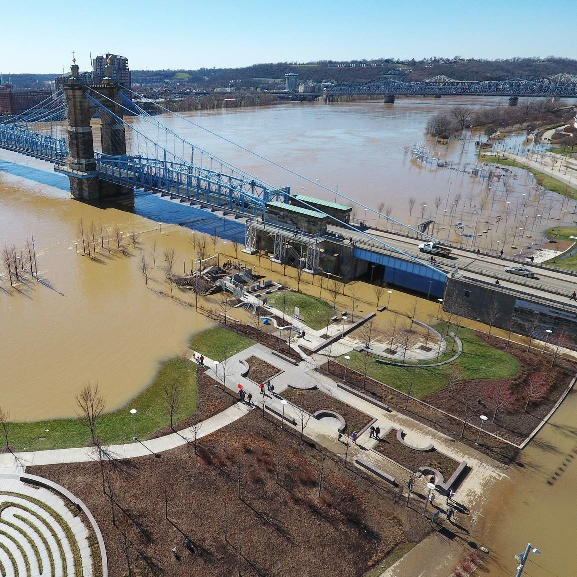 Smale Riverfront Park's resilient design helped after-flood cleanup