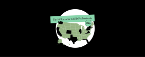 Infographic: Top 10 States for LEED Professionals