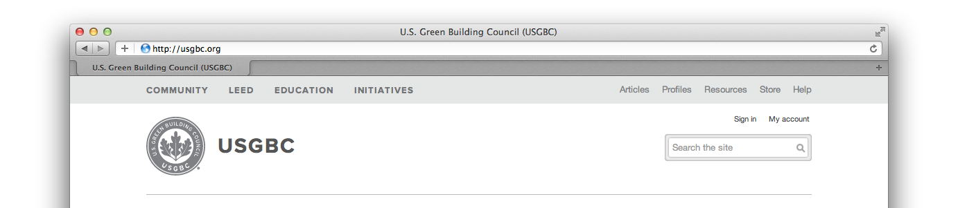 the new USGBC.org